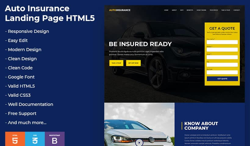 Car Insurance Template