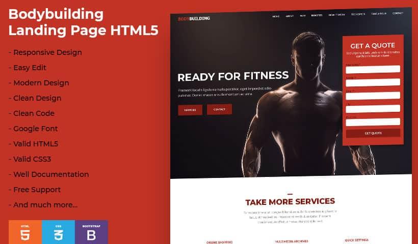 BodyBuilding Landing Page Temp