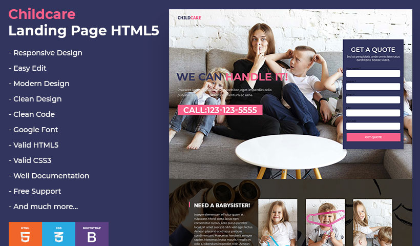 ChildCare Landing Page