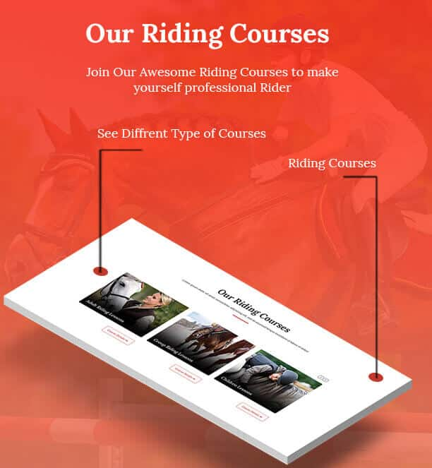horses stables riding club wordPress template