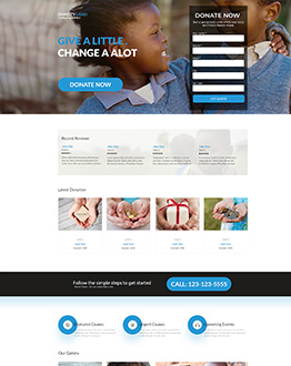 donation landing page template olanding