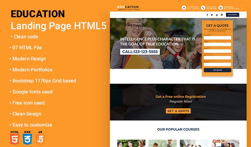 Education Landing Page Temp