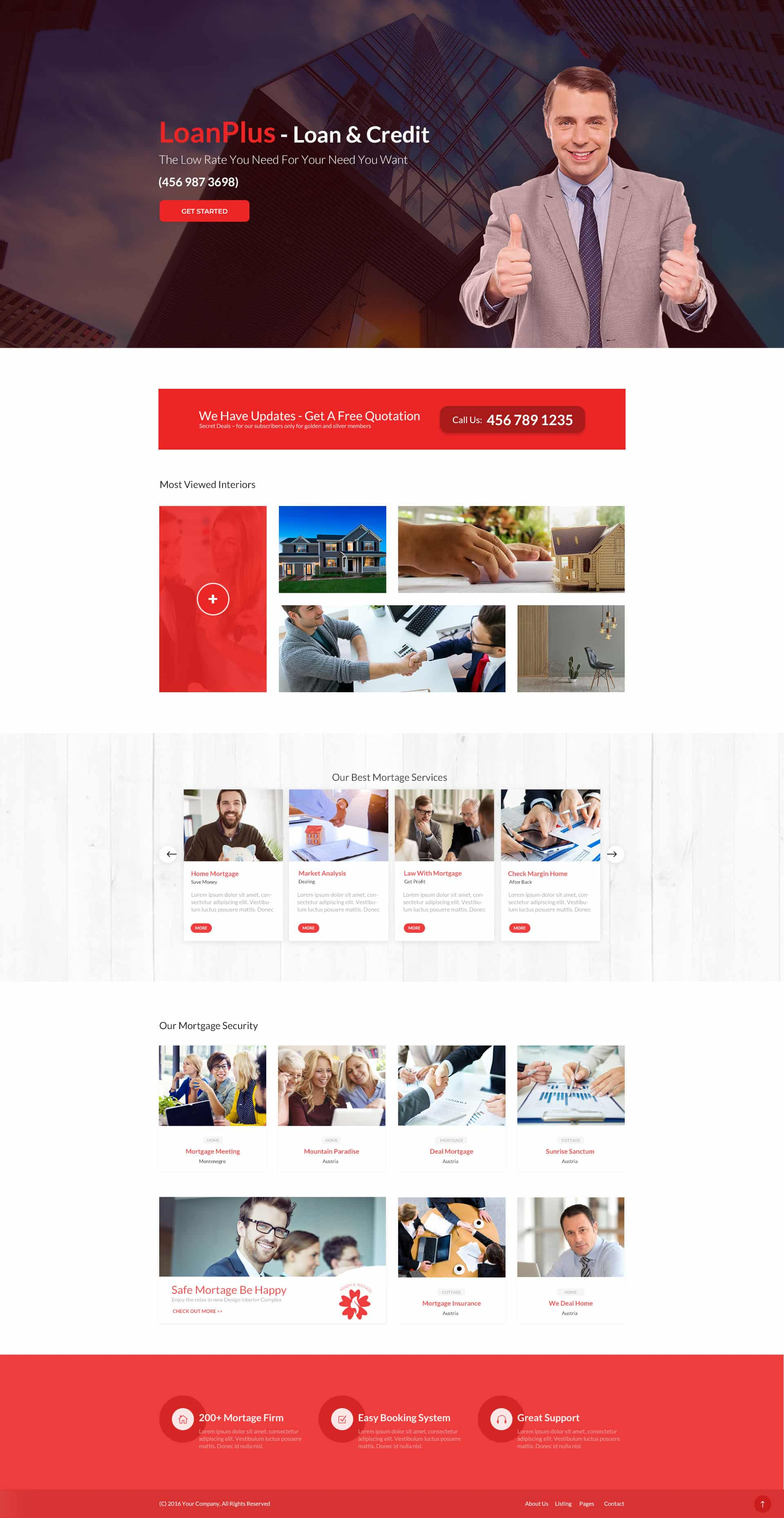 Home Loan Landing Page