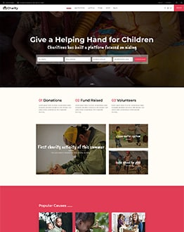 Charity WP Landing Page