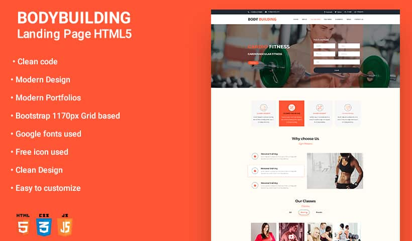 Body building WP Theme