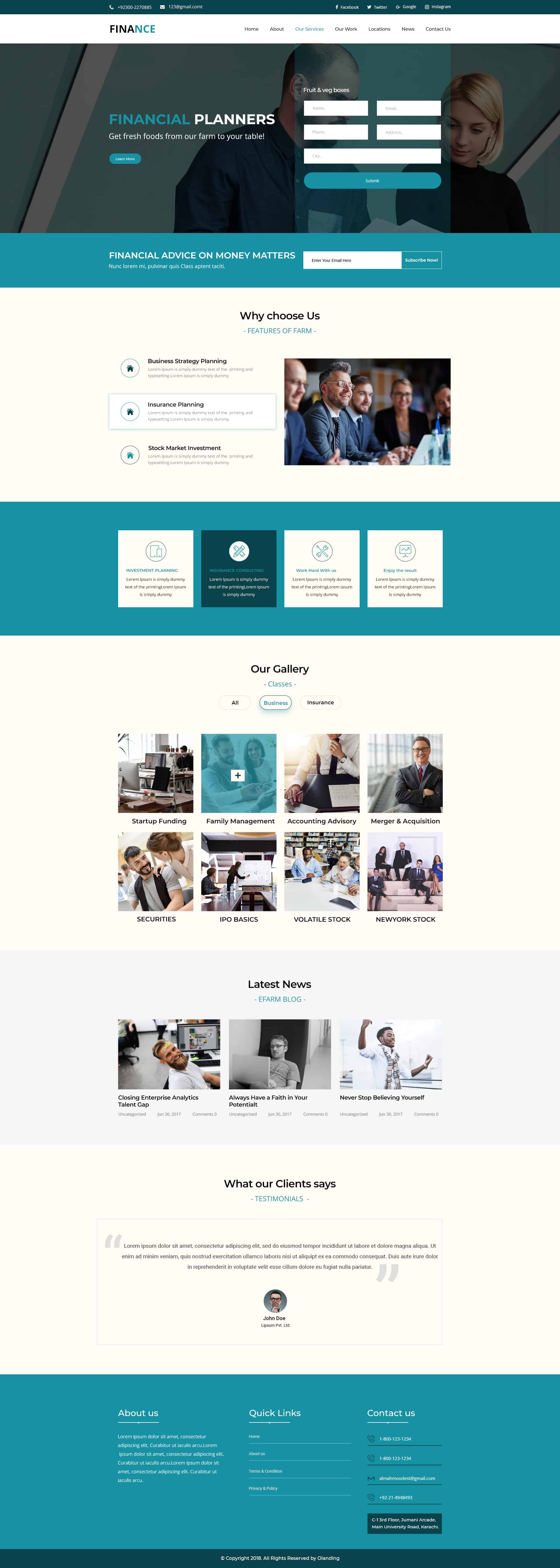 finance WP theme