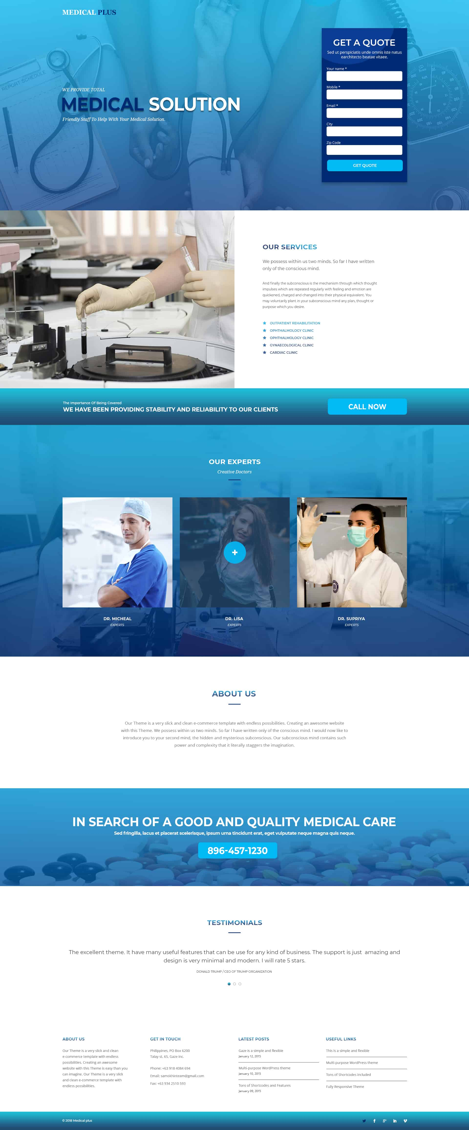 Medical Landing Page Temp