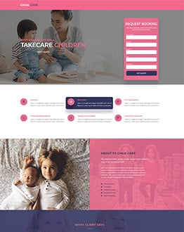 ChildCare Landing Page Template