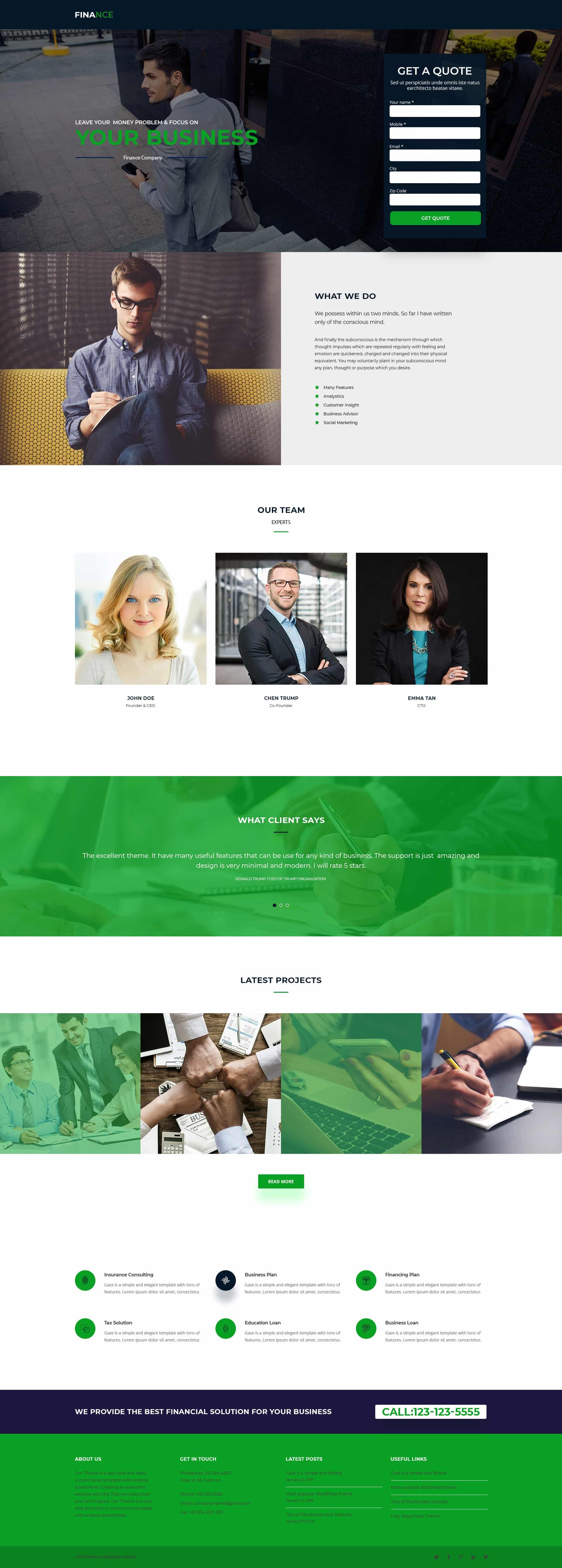 Finance V4 Landing Page