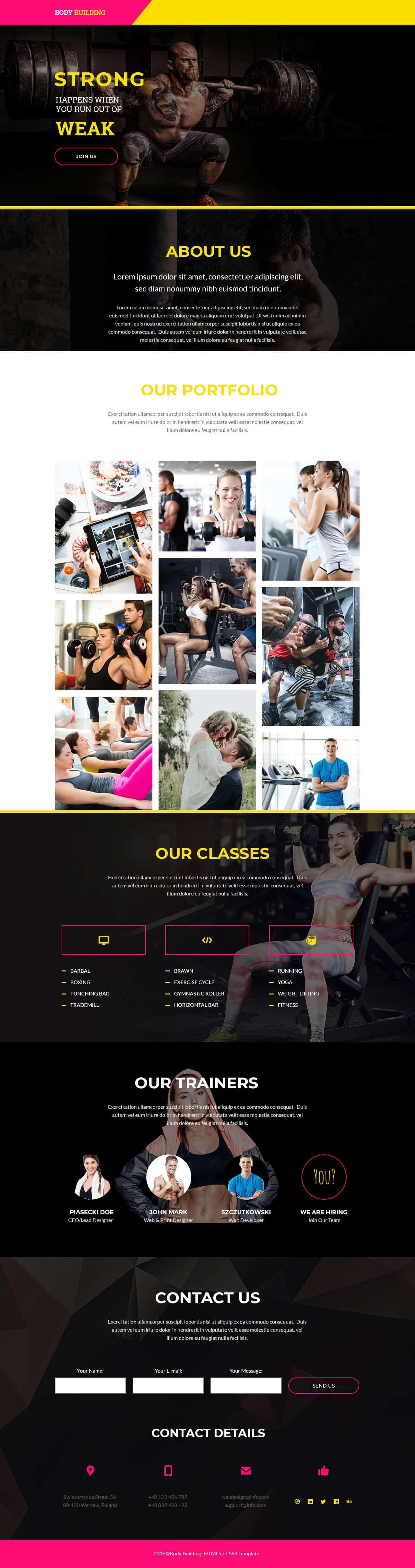 Bodybuilding V4 Landing Page