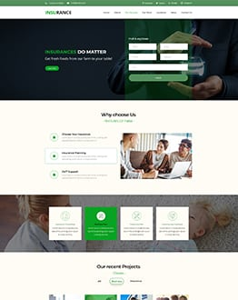 Insurance WP Template