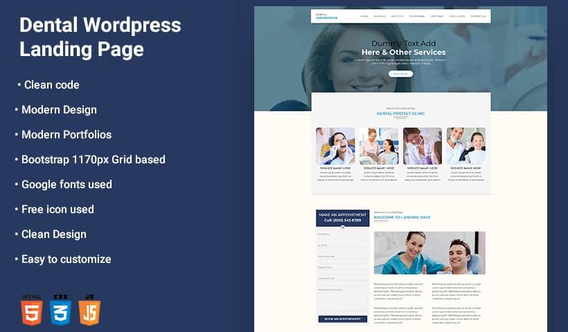 Dental V2 WP Landing Page