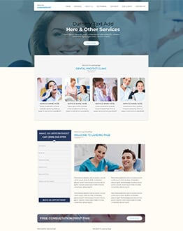 Dental V2 WP Landing Page Theme