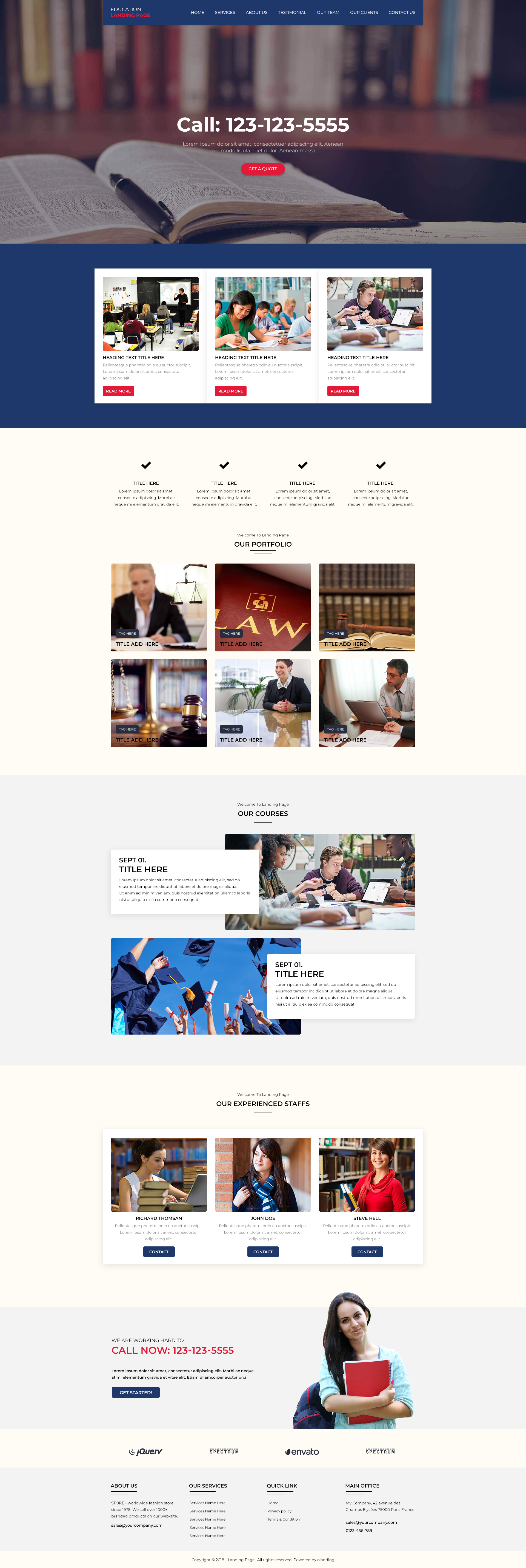 education WP Landing Page