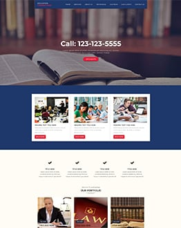 education WP Landing Page Theme