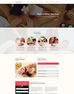 massage center WP Landing Page Template