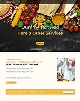 restaurant WP Landing Page