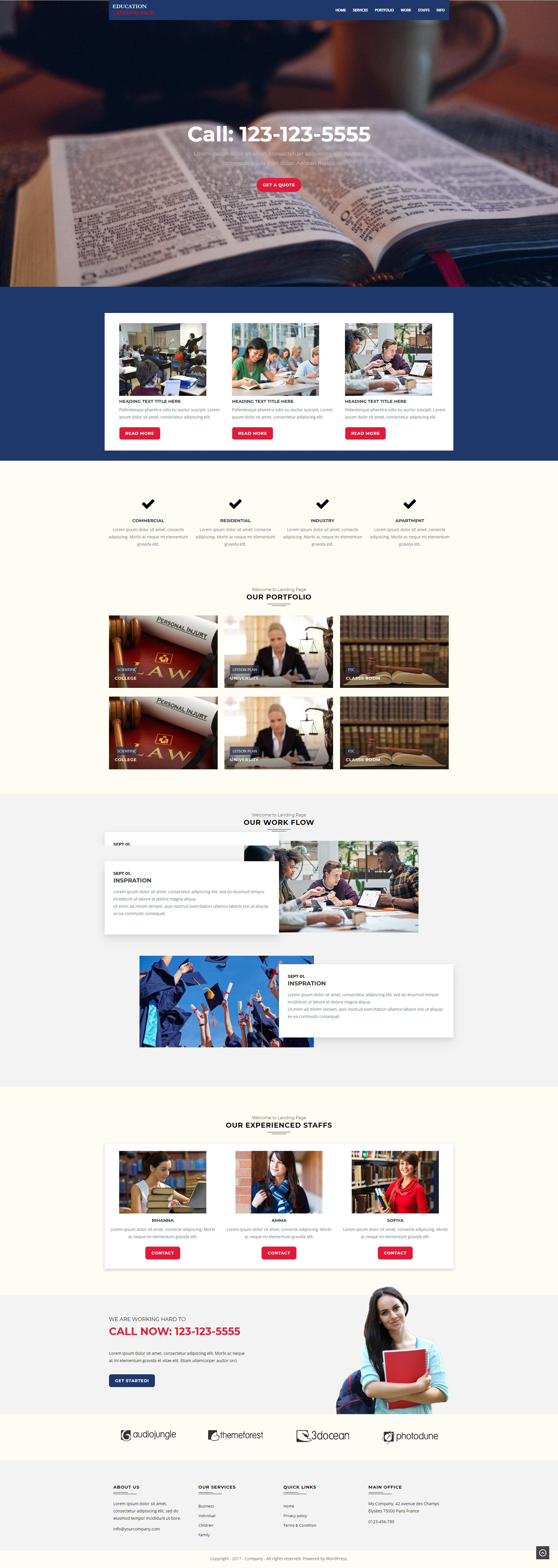 Education Wordpress Landing Page Template Best For Schools