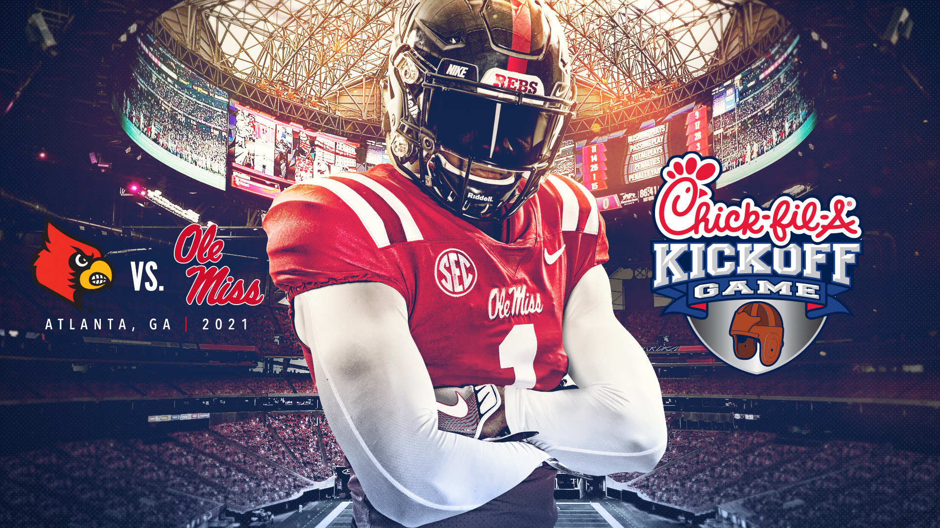 Ole Miss To Face Louisville In 2021 Chick Fil A Kickoff Game Ole