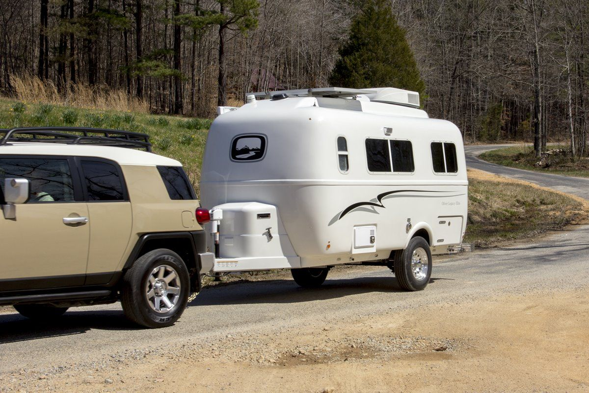 oliver travel trailers legacy elite 1 easy towing in beautiful fall