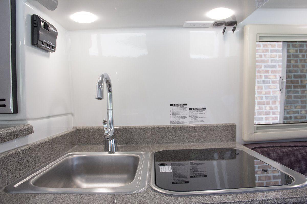 oliver travel trailers legacy elite 1 kitchen sink stovetop burner