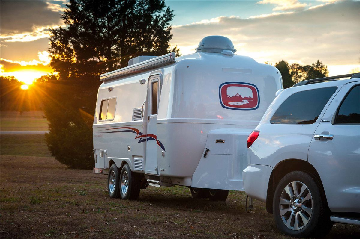 oliver travel trailers legacy elite 2 at evening toyota easy towing