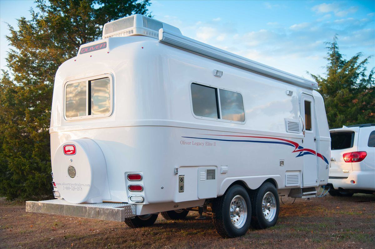 oliver travel trailers legacy elite 2 ease of towing with toyota