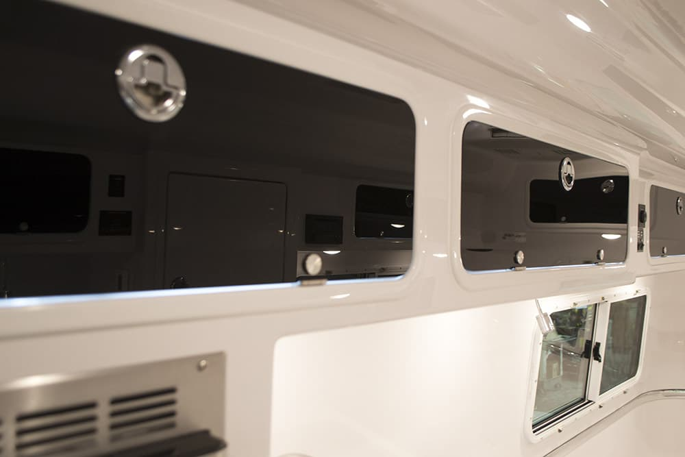 oliver travel trailers add-ons and upgrades options overhead cabinets black