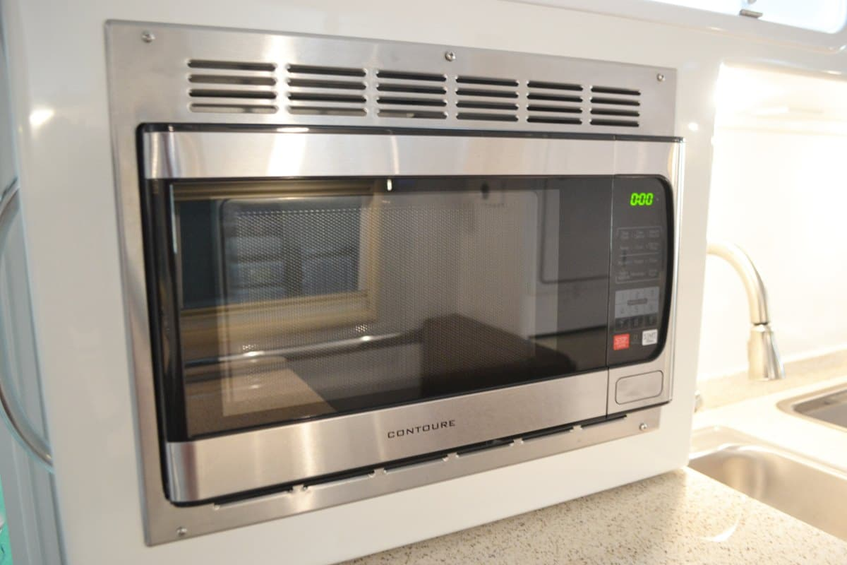 oliver travel trailers standard features contoure stainless steel microwave