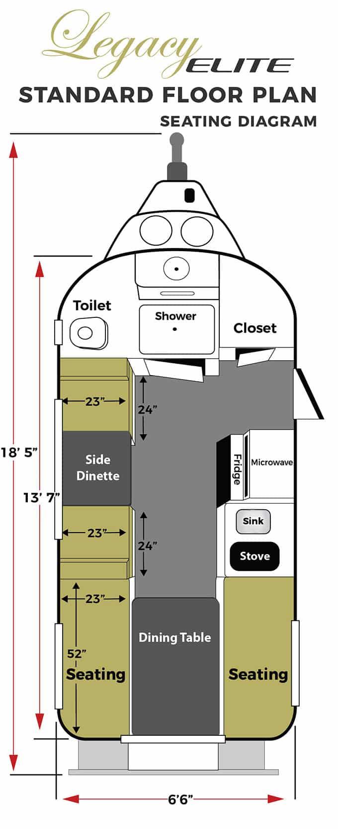 oliver travel trailers legacy elite 1 standard seating floor plan vertical