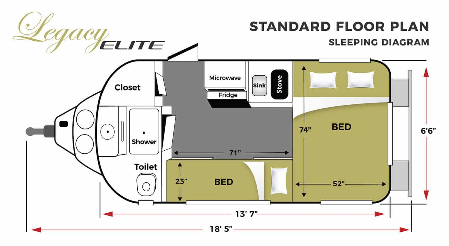 Travel Trailer Floor Plans