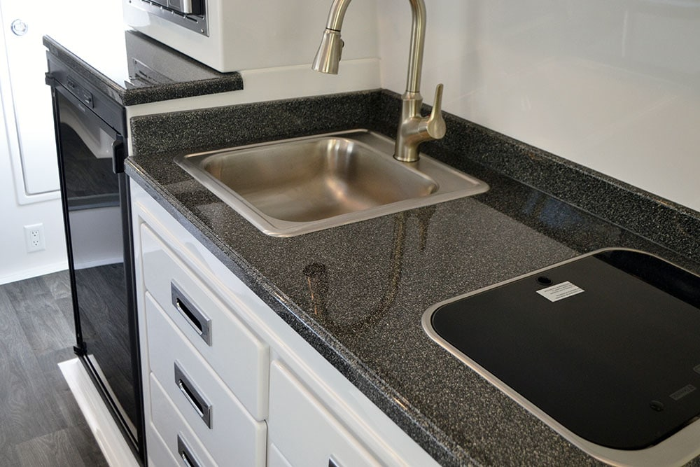 oliver travel trailers add-ons and upgrades options fiber-granite counter top