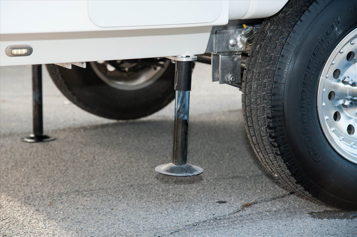 oliver travel trailers standard features power stabilizing system jacks