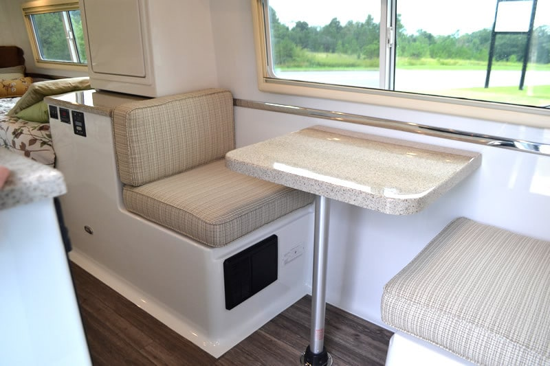 oliver travel trailers standard options side dinette fiber-granite