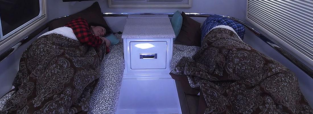 4 season travel trailer sleeping