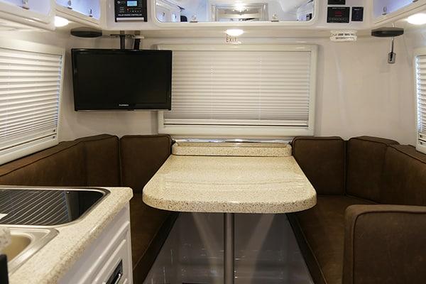 inside full floor plan small travel trailers legacy elite 1 standard bed