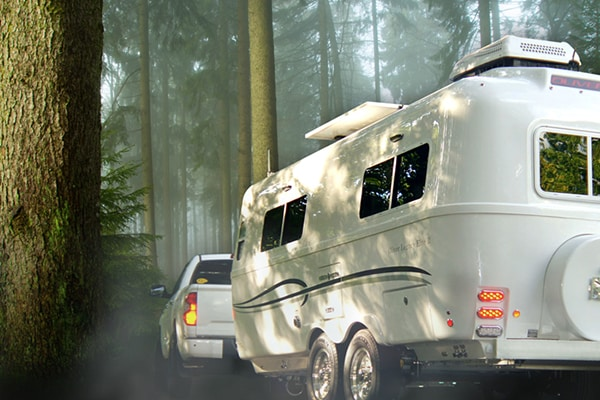 Camping Trailers Oliver Travel Trailer in the woods