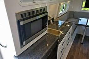 travel trailer kitchen floor plan