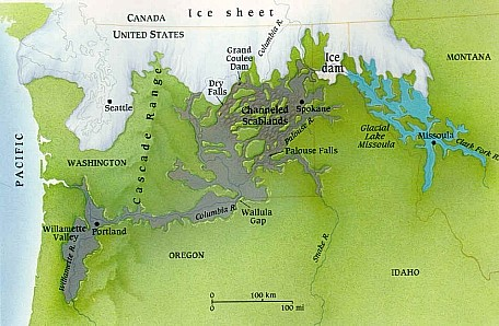 western portion of the northern ice cap