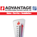 Website for Advantage Air Conditioning, Heating & Refrigeration
