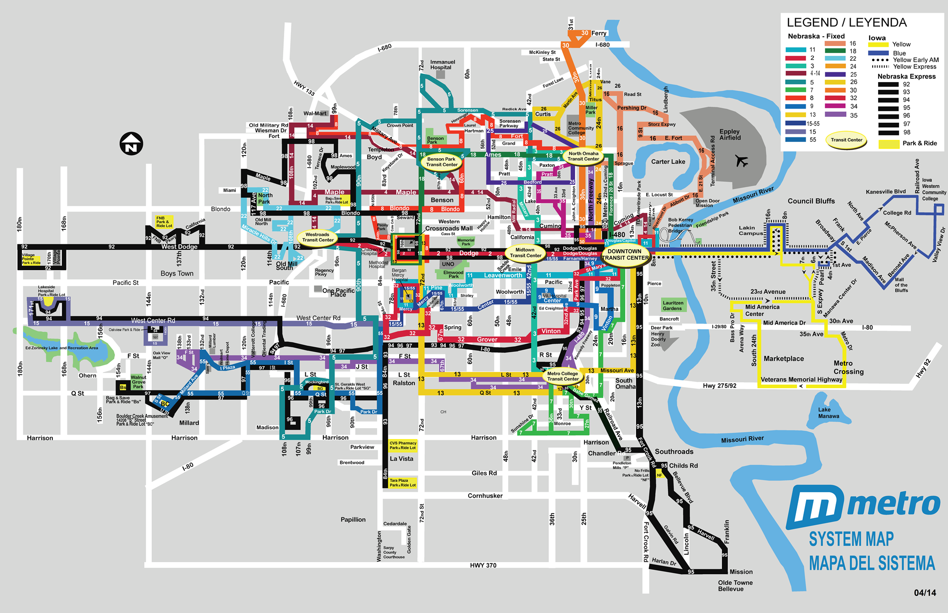 omaha airport bus lines