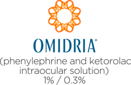 OMIDRIA (phenylephrine and ketorolac intraocular solution) 1% / 0.3%