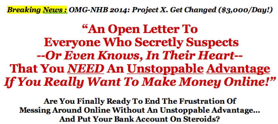 OMG NHB 2014: Project X