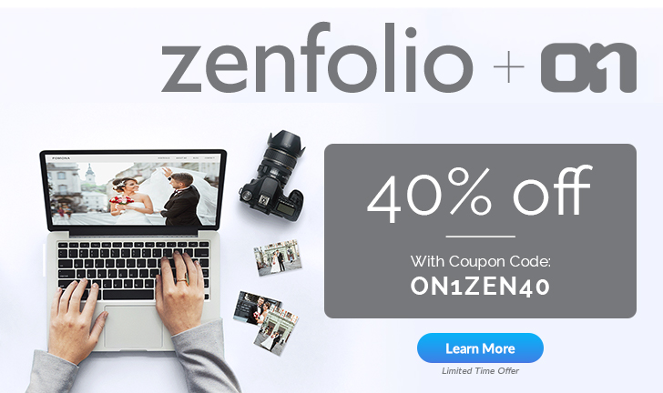 Product spotlight zenfolio 40 off for on1 customers on1 fandeluxe Images