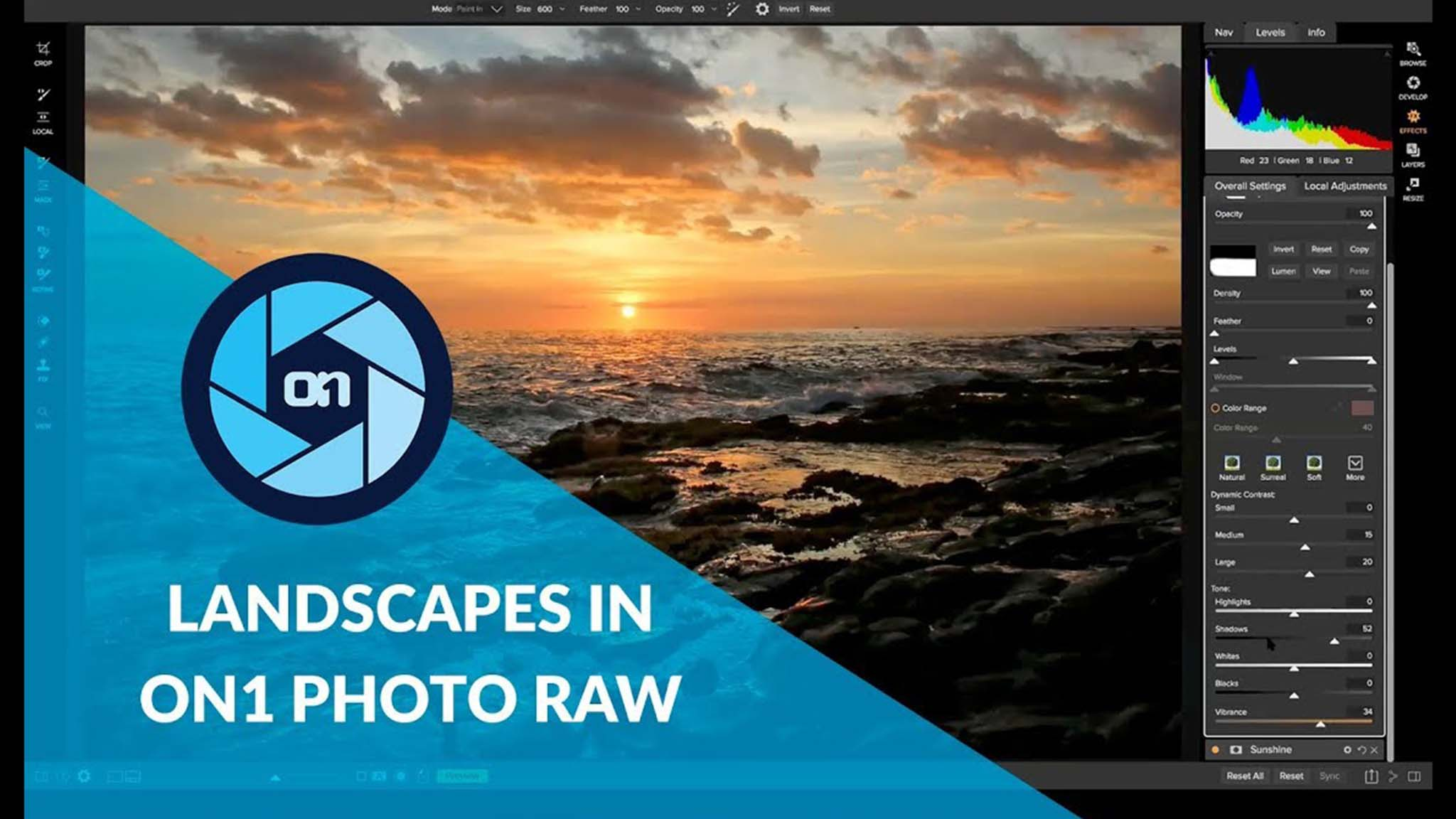 Landscapes in ON1 Photo RAW