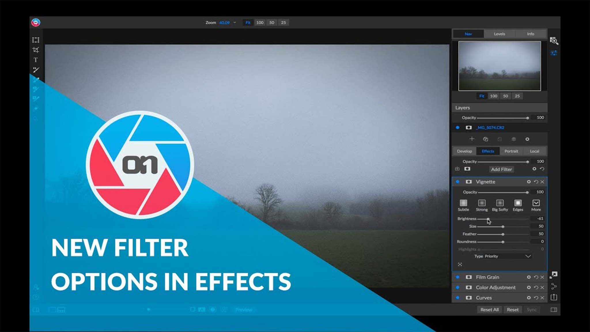 New Filter Options in Effects