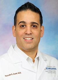 Hussein Aoun, MD, a radiologist at Barbara Ann Karmanos Cancer Institute
