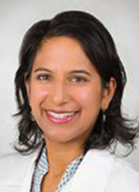 Jyoti S. Mayadev, MD, associate professor of Radiation Medicine and Applied Sciences, director of Gynecologic Brachytherapy and chief of Gynecology Oncology Radiation Services at University of California, San Diego Health