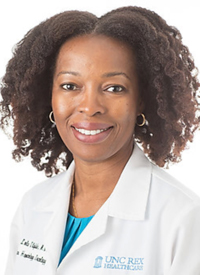 Oludamilola (Lola) A. Olajide, MD, an adjunct professor and medical oncologist at the Rex Cancer Center of UNC Health
