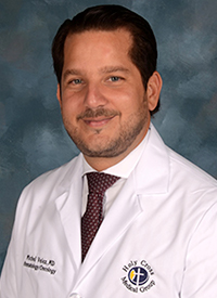 Michel Velez, MD, a medical oncologist at Holy Cross Hospital